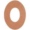 Metal Blank 24ga Copper Washer-oval 38mm With 29mmhole